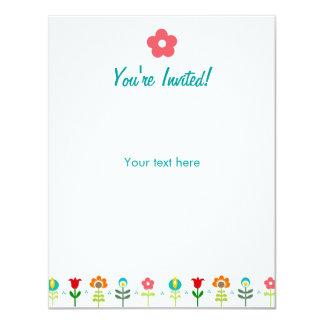 Pretty Retro folk flowers Card