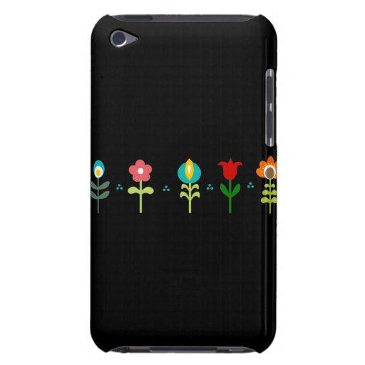 Pretty Retro folk flowers Barely There iPod Case