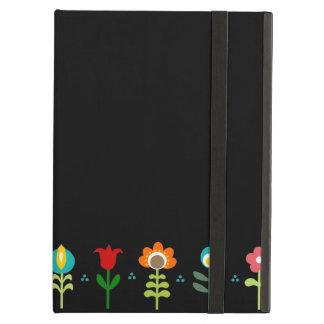 Pretty Retro folk flowers iPad Covers
