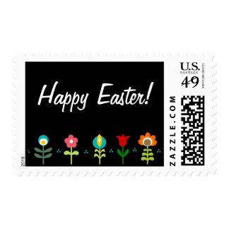 Pretty Retro folk flowers Stamp