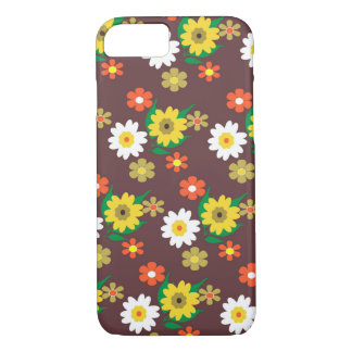 Pretty Retro Inspired Ditsy Floral Design iPhone 8/7 Case