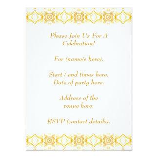 Pretty Retro Pattern. Old Fashioned. 6.5x8.75 Paper Invitation Card