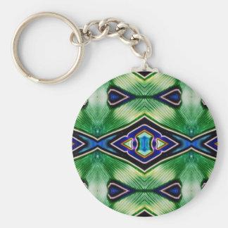 Pretty Rich Shades Of Green Blue Lavender Keychain