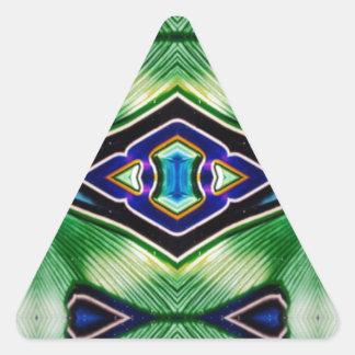 Pretty Rich Shades Of Green Blue Lavender Triangle Sticker