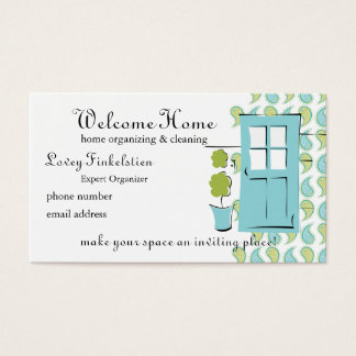 Pretty Robin's Egg Blue Door Business Card