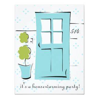 Pretty Robin's Egg Blue Door Card