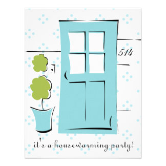 Pretty Robin's Egg Blue Door Personalized Announcements
