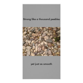 Pretty Rocks Post Card Custom Photo Card