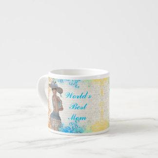 Pretty romantic best mom espresso cup