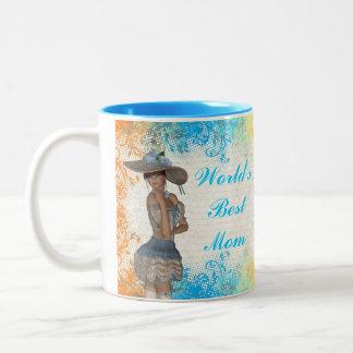Pretty romantic best mom Two-Tone coffee mug