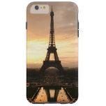 Pretty Romantic Sunset Eiffel Tower Paris France Tough iPhone 6 Plus Case