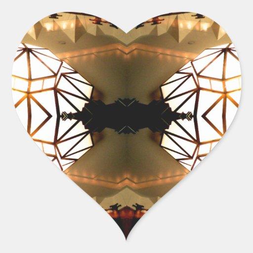 Pretty Romantic Unusual Nifty Abstract Design Heart Sticker