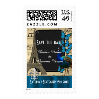 Pretty romantic vintage Paris save the date Stamp