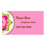 Pretty Rose Business,Profile Card Business Card Templates