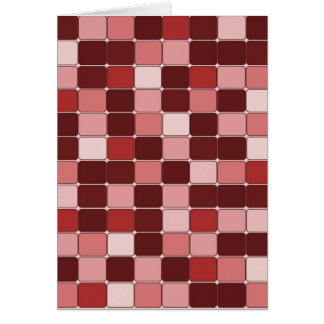 Pretty Rose Colored Mosaic Tile Pattern Gifts Card