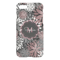 Pretty rose gold floral illustration pattern iPhone 8/7 case
