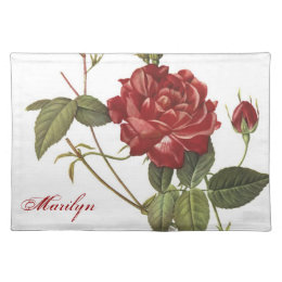 Pretty Rose mat with name