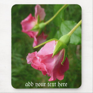 pretty rose mousepad Add your own text