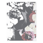 Pretty rose pattern post cards