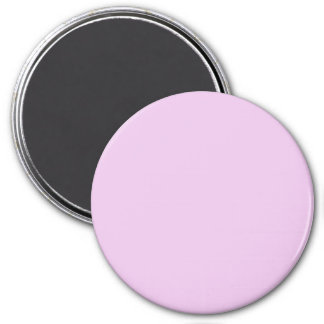 Pretty Rose Pink Solid Color 3 Inch Round Magnet