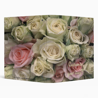 Pretty Roses Album, Notebook, Journal, Many Uses! 3 Ring Binder