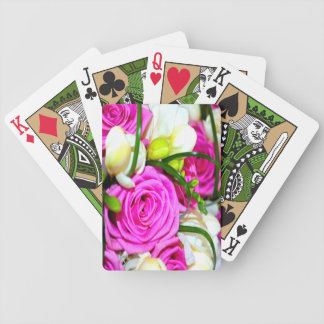 Pretty Roses Bicycle Playing Cards