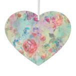 Pretty Roses Floral Paint Watercolors Design Air Freshener at Zazzle