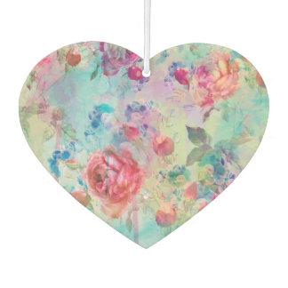 Pretty roses floral paint watercolors design air freshener