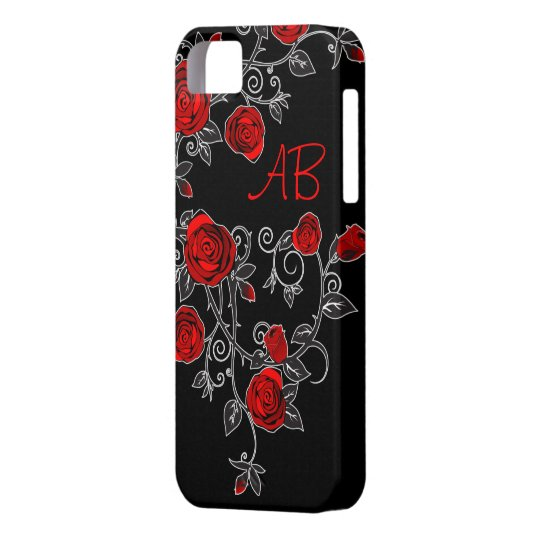 pretty roses iphone 5 case cover + your initials