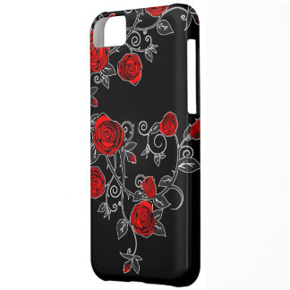 pretty roses rambling vine iphone 5 case cover red