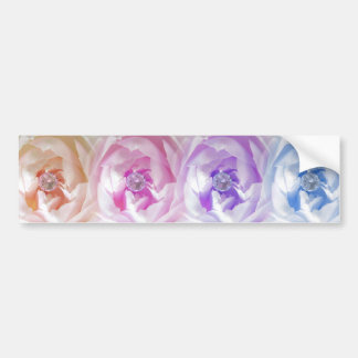 Pretty Roses With Gems Car Bumper Sticker