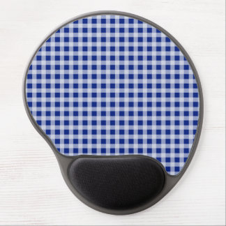 Pretty Royal Blue and White Gingham Check Pattern Gel Mouse Pad