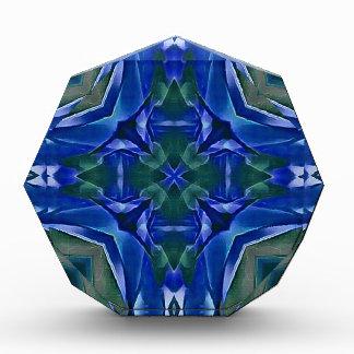 Pretty Royal Blue Cross Shape Pattern Award