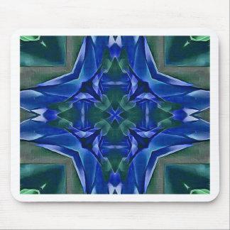 Pretty Royal Blue Cross Shape Pattern Mouse Pad