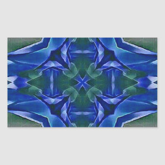 Pretty Royal Blue Cross Shape Pattern Rectangular Sticker