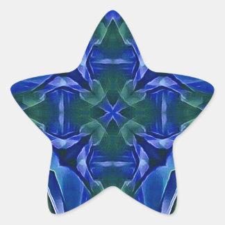 Pretty Royal Blue Cross Shape Pattern Star Sticker