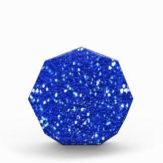 Pretty Royal Blue Sparkly Faux Glitter Look Acrylic Award
