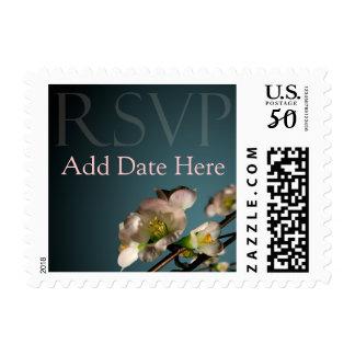 Pretty RSVP Floral Flower Blossom Postage
