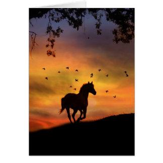 Pretty Running Horse Note Card