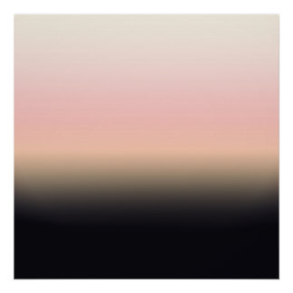 Pretty Rusted Black to Pink Gradient Ombre Poster