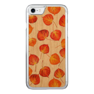Pretty Rustic Autumn Leaves Carved iPhone 8/7 Case