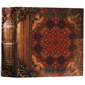 Pretty Rustic Faux Brown Leather Ancient Tome Binder
