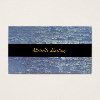 Pretty Rustic Periwinkle Weathered Paint Business Card