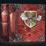 """Pretty Rustic Red Dragon Scale Ancient Tome 3 Ring Binder<br><div class=""""desc"""">Step into the past with this whimsical ancient-tome-themed novelty binder,  alive with medieval lore from the dragon age and faux metal-tooled detail. Makes a fantastic one-of-a-king gift. Shop the rest of our Ancient Tome themed binders and notebooks for a unique niche of products you don&#39;t want to miss!</div>"""