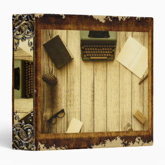 Pretty Rustic Vintage Book Typewriter Writing Binder