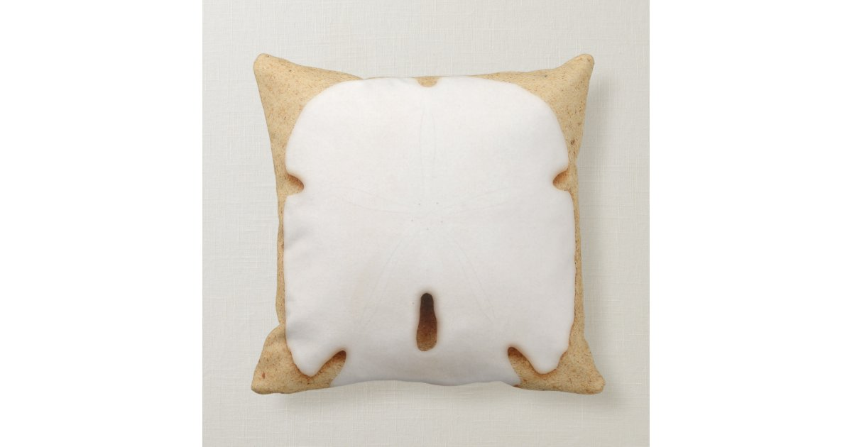 Throw Pillows Under 5 Dollars : Pretty Sand Dollar Throw Pillow Zazzle