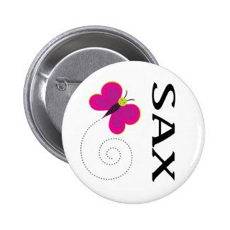 Pretty Saxophone Button