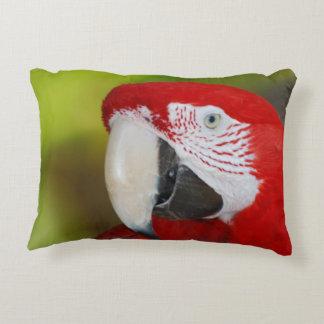 Pretty Scarlet Macaw Decorative Pillow