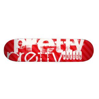 Pretty; Scarlet Red Stripes Skateboard