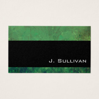 Pretty Sea Green Abstract Marble Texture Business Card